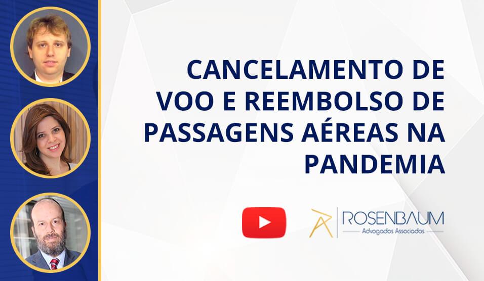 Cancelamento de voo e reembolso de passagens aéreas na pandemia